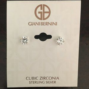 Take 50% off! Sterling Silver and CZ Earrings (E2)